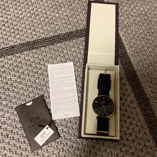 ダニエルウェリントン(Daniel Wellington)のDaniel Wellington ブラック×ピンクゴールド 腕時計(腕時計(アナログ))