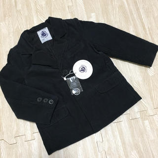 プチバトー(PETIT BATEAU)の新品☆プチバトー ジャケット 中綿 コーデュロイ ブラック 110(ジャケット/上着)