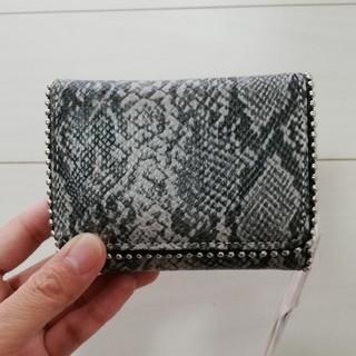 しまむら - MUMUコラボパイソン柄折り財布 新品