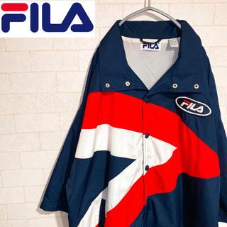 フィラ(FILA)のFILA フィラ ナイロンジャケット ブルゾン マルチカラー 刺繍ロゴ 90s(ナイロンジャケット)