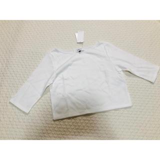 ルシェルブルー(LE CIEL BLEU)のLE CIEL BLUE 半端袖 ホワイトトップス タグ付き新品(カットソー(半袖/袖なし))