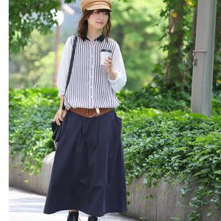 nOr 黒 コットンスカート(ロングスカート)