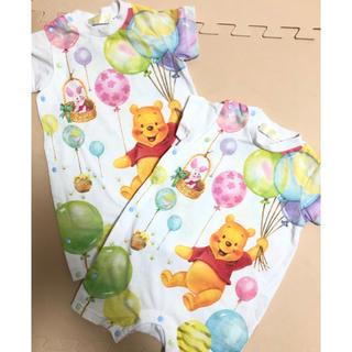 Disney - 東京ディズニーリゾートランドシープーさん風船バルーンピグレットイーヨー70白半袖