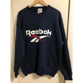 リーボック(Reebok)のReebok リーボック ロゴスウェット トレーナー ネイビー(スウェット)