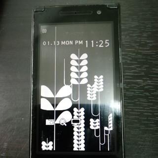 エヌイーシー(NEC)のdocomo/N705i/黒/amadana/ガラケー(携帯電話本体)