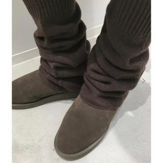 アパルトモンドゥーズィエムクラス(L'Appartement DEUXIEME CLASSE)のL'Appartement  LEG WARMER  ブラウン 新品タグ付(レッグウォーマー)