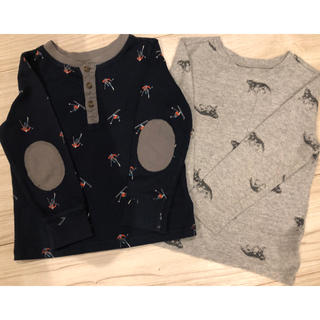 Old Navy - OLD NAVY 3T 100 ロンT 2枚セット
