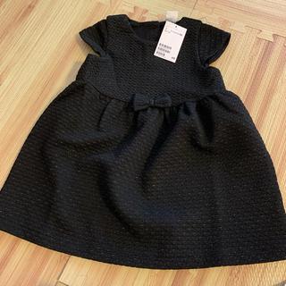 エイチアンドエム(H&M)の【新品】H&M ブラック フォーマル ドレス 90cm(ワンピース)