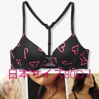 ヴィクトリアズシークレット(Victoria's Secret)のヴィクトリアシークレットPINK新作のブラ黒Heart(ブラ)