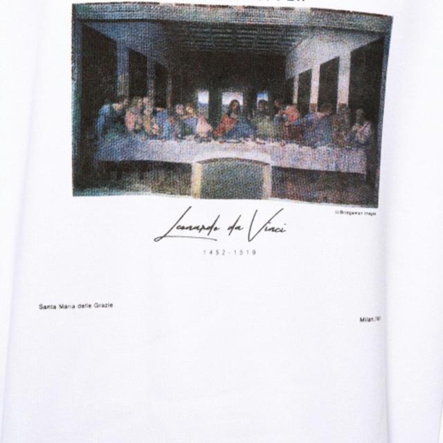 RAGEBLUE(レイジブルー)のアートプリント裏起毛スウェットクルー メンズのトップス(スウェット)の商品写真