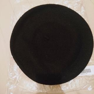 グレイル(GRL)の【新品 タグ付き】GRL ウールベレー帽(黒)(ハンチング/ベレー帽)