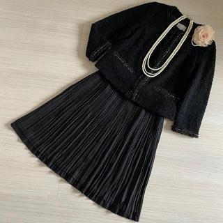 ニジュウサンク(23区)の23区 スーツ 大きいサイズ 卒業式 入学式 ママスーツ 黒 44/XL/13号(スーツ)