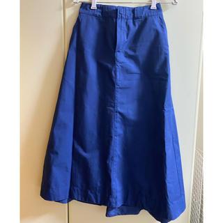 ディッキーズ(Dickies)のDickies × coen チノロングスカート 青 L(ロングスカート)