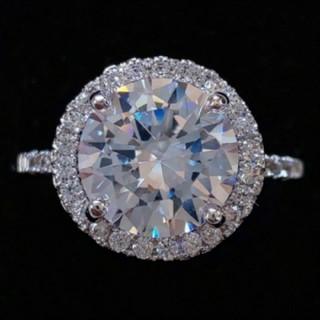 スワロフスキー(SWAROVSKI)のf25❇️ラナンキュラス❇️豪華 1.8㌌ ダイヤモンドCZ リング K18金 (リング(指輪))