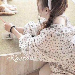 Kastane - 花紐ウエスト紐ブラウス