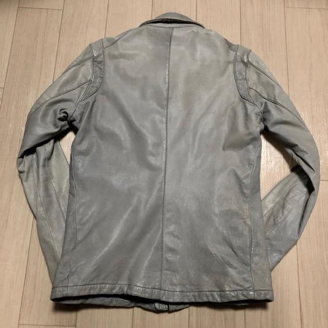 Edition(エディション)のedition エディション レザー ライダース ジャケット 46/M グレー メンズのジャケット/アウター(レザージャケット)の商品写真