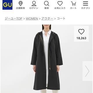 GU - gu フーデットロング マウンテンパーカー M