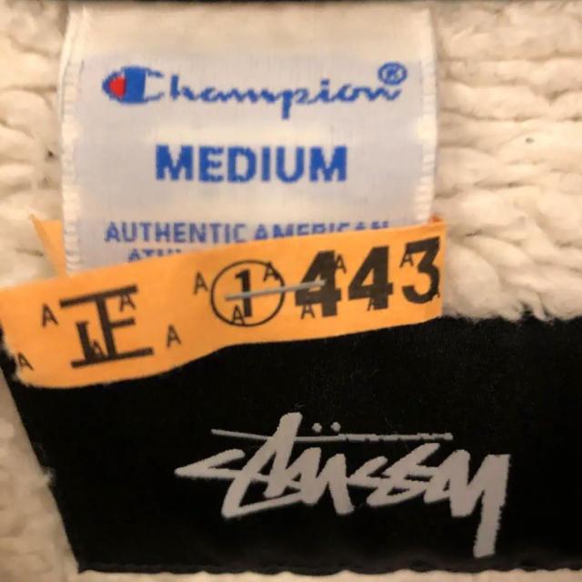 STUSSY(ステューシー)のstussy ×chanpion Mサイズ 裏ボア付 コーチジャケット  黒 メンズのジャケット/アウター(ナイロンジャケット)の商品写真