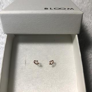 ブルーム(BLOOM)のBLOOM ピンクゴールド ダイヤモンド K10 ハート(ピアス)
