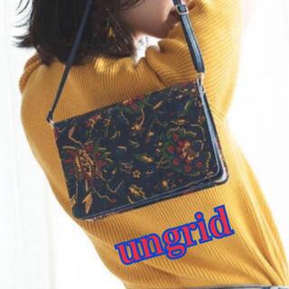 Ungrid - ⑥①②ungrid 花柄 ショルダーバッグ
