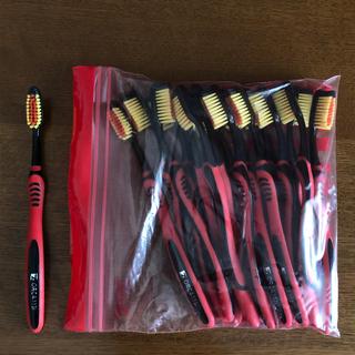 未使用歯ブラシ17本セット黒×赤ブラック×レッドまとめ買い(歯ブラシ/デンタルフロス)
