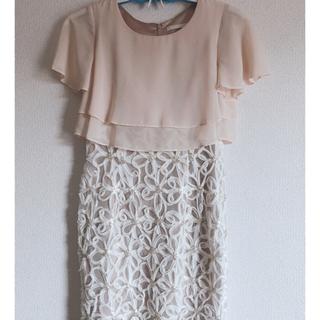 ティアンエクート(TIENS ecoute)のティアンエクート花刺繍ドレス(ミディアムドレス)