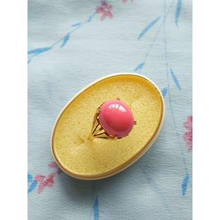 ピンク珊瑚・サンゴ ◇ K18ファッションリング◇ゴールドジュエリー(リング(指輪))