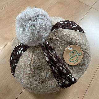 シマムラ(しまむら)のしまむら新品ポンポン付きベレー帽(ハンチング/ベレー帽)
