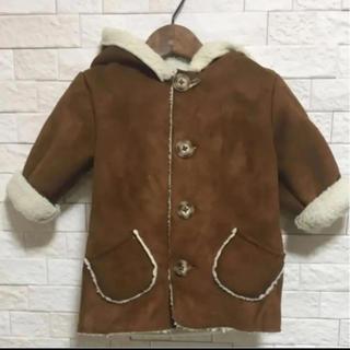 シマムラ(しまむら)の韓国子供服 キッズ ベビー ムートンコート 100(コート)