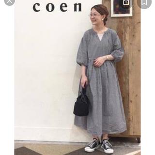 コーエン(coen)の19ss ギンガムチェックワンピ(ロングワンピース/マキシワンピース)