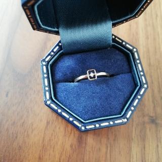 ノジェス(NOJESS)のノジェススクエアフレームダイヤリング(リング(指輪))