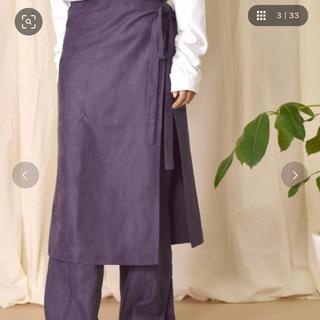 ダブルクローゼット(w closet)のw closet  ラップスカート付きスリットイージーパンツ(カジュアルパンツ)