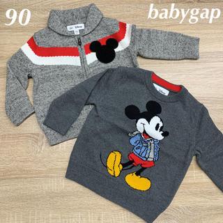 babyGAP - 新品☆babygap☆ミッキー柄セーター2枚セット☆90㎝