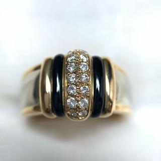 オージェイペリン k18wg オニキス ダイヤモンド リング(リング(指輪))