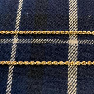 アヴァランチ(AVALANCHE)の14k ロープチェーンネックレス rope chain 金 ジュエリー (ネックレス)