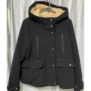 ZARA - ZARA trf +outerwear フード付ハーフコート