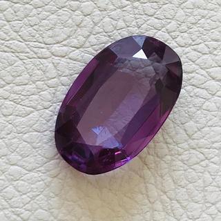 バイオレットサファイアルース❤️紫パープルオーバルジュエリー石❤️リングにも(リング(指輪))
