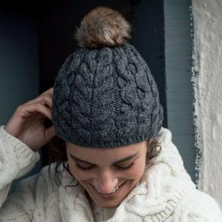 BEAUTY&YOUTH UNITED ARROWS - 【新品】aran アイルランド製 スーパーソフトメリノウール100% ニット帽