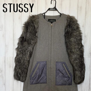 STUSSY - STUSSY ファーコート レディース