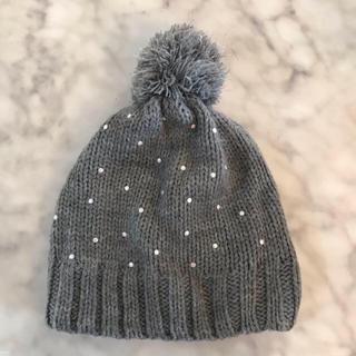 ザラキッズ(ZARA KIDS)のキッズ ニット帽 グレー(帽子)