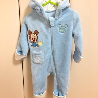 Disney - ベビーミッキー 新生児 ふわふわ カバーオール