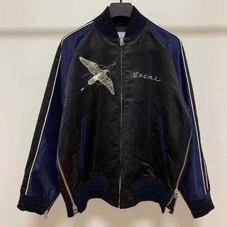 sacai - sacai dr.woo 19ss souvenir jacket  ブラック