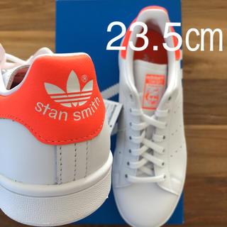 アディダス(adidas)の【レア】 希少カラー 23.5㎝ アディダス スタンスミス ホワイト オレンジ(スニーカー)
