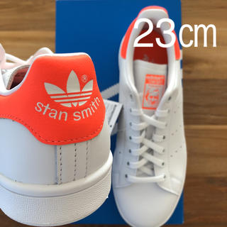 アディダス(adidas)の【レア】 希少カラー 23㎝ アディダス スタンスミス ホワイト オレンジ(スニーカー)