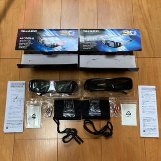 SHARP - 3Dメガネ SHARP AN-3DG10-Rレッド AN-3DG10-Sシルバー