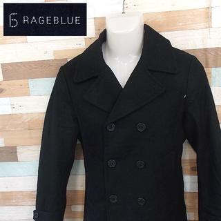 レイジブルー(RAGEBLUE)の【RAGEBLUE】 美品 レイジブルー ブラックピーコート Pコート S(ピーコート)
