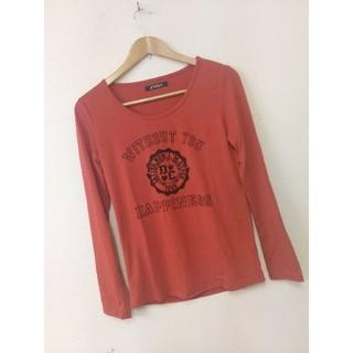 gladys ロンT インナー 春物衣類 オレンジ色 Lサイズ(Tシャツ(長袖/七分))