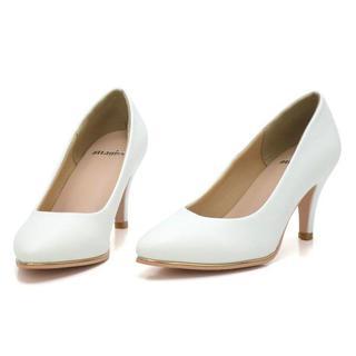 新品 送料込 パンプス ホワイト Sサイズ 22.5cm~23cm(ハイヒール/パンプス)