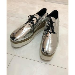 DONOBAN シルバー ローファー 25.0cm(ローファー/革靴)