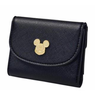 ミッキーマウス - NATURAL BEAUTY BASIC 上質レザー調ミニ財布